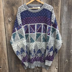 VTG 80s-90s 3X Tall Geometric Pattern Sweater